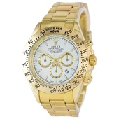 Наручные часы Rolex Daytona Quartz Date Gold-White