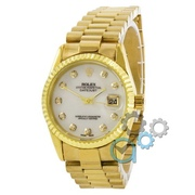 Наручные часы Rolex Date Just Gold-White Pearl