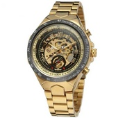 Наручные часы Winner 8067 Gold-Black-Black Red Cristal