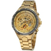 Наручные часы Winner 8067 Gold-Black-Gold Red Cristal