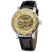 Наручные часы Winner 8012 Diamonds Automatic Black-Silver-Gold