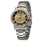 Наручные часы Winner 8012 Diamonds Automatic Silver-Black-Gold