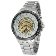 Наручные часы Winner 8067 Silver-Black-Gold Cristal