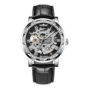 Наручные часы Winner 8012 Diamonds Automatic Black-Silver