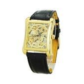Часы мужские наручные прямоугольные механические Winner Skeleton New Gold 11932b783d0f8