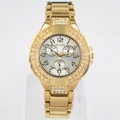 Наручные часы Guess double metal diamond gold
