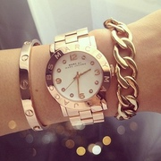 Часы наручные Marc by Marc Jacobs metal with diamonds Gold with white