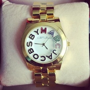 Часы наручные Marc by Marc Jacobs with crystal Logo Gold