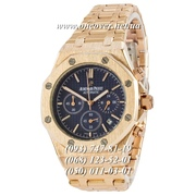 Кварцевые наручные часы Audemars Piguet Royal Oak Chronograph Gold-Blue