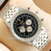 Часы наручные Breitling Chronometre Silver/Black