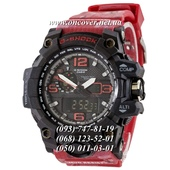 Кварцевые наручные часы Casio G-Shock GWG-1000 Black Red-Militari Wristband