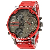 Наручные часы Diesel Brave Steel Black-Red Silicone