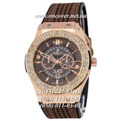 Кварцевые наручные часы Hublot 882888 Classic Fusion Crystal Brown-Gold-Brown New