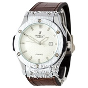 Мужские Наручные часы Hublot Classic Fusion Man Brown-Silver-White