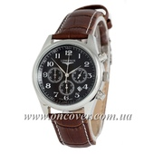 Наручные часы Longines quartz Chronograph Silver/Black