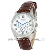 Наручные часы Longines quartz Chronograph Silver/White
