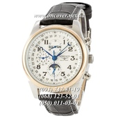 Механические наручные часы Longines Master Collection Moonphases Black-Silver-Gold-White
