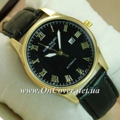 Наручные кварцевые часы Patek Philippe Geneve Automatic Black/Gold/Black