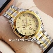 Часы наручные Rolex Quartz 037 Silver-gold/Black