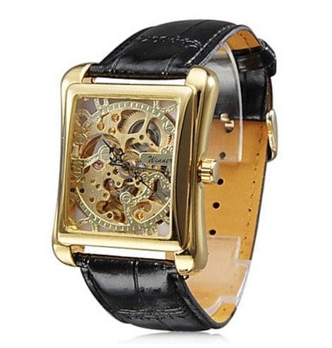Скелетон прямоугольные часы часы хелло китти купить спб